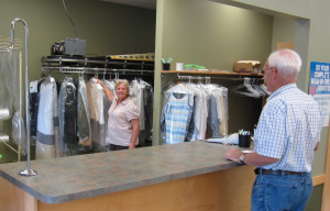 Willette's Home Laundry Service Counter