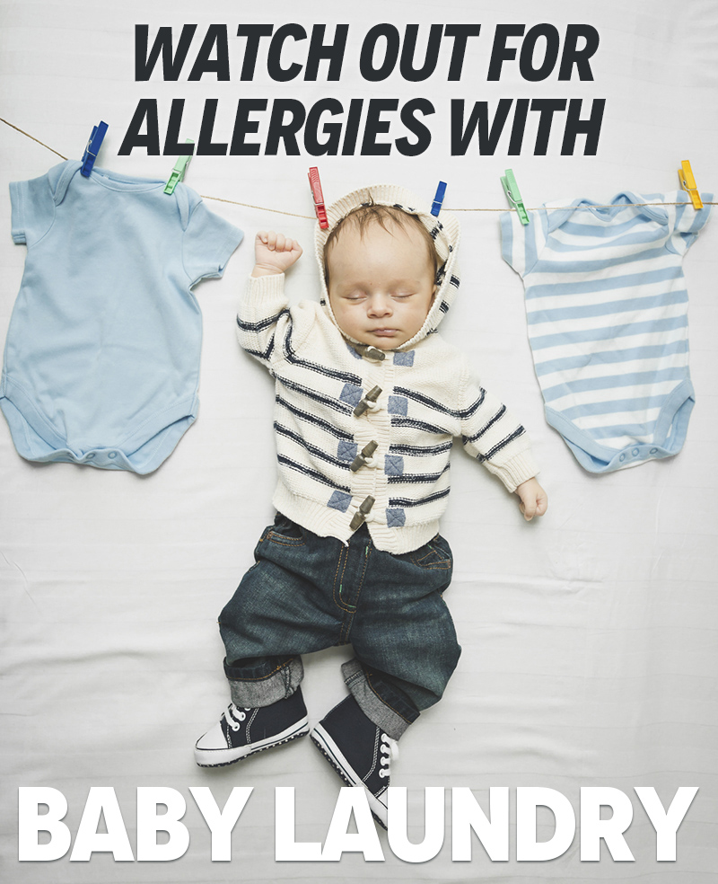 allergies with baby laundry