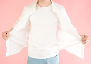 Asian man with white shirt